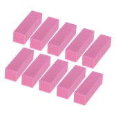 10pcs Salon Block Files Nail Art Buffer Shiner Manicure Nail File Nail Polishing Block Tool Rose Red