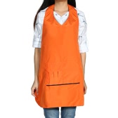 Hairdressing Salon Apron for Hair Barber Water Resistant Hairdressing Cloth Hair Cutting Cape Dacron & Cotton Shampoo Cloth Orange