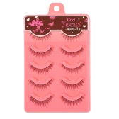 5 Pairs Upper Eyelashes Natural False Eyelash Hand-made Fake Lashes Cross Lashes Thick & Long Makeup Tool