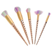 5Pcs Makeup Brush Set Rainbow Color Cosmetic Brush Kit Contour Brush Eyeshadow Powder Brush Nylon hair Beauty Tool
