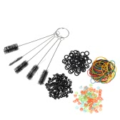 Tattoo Accessory Kit Rubber Bands Silicone O-rings Needle Pad Needle Mouth Brush Tattoo Supplies Set