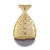 1pc Professional Mermaid Foundation Blusher Face Powder Cosmetic Makeup Brush Beauty Tool Mermaid Tail