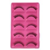 5 Pairs False Eyelash Voluminous Upper Eyelashes Long Black Thick Fake Lashes Hand-made Natural Soft Eye Lashes Makeup Tool