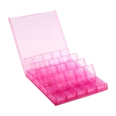 20 Grids Detachable Plastic Storage Box Case Container Jewelry Beads Rings Makeup Nail Art Tips Organizers Transparent White