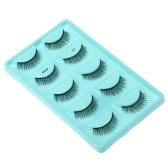 5 Pairs False Eyelash Voluminous Upper Eyelashes Long Black Thick Fake Lashes Hand-made Natural Soft Eye Lashes Makeup Tool