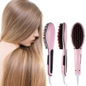 Hot Sale Professional Automatic Straightening Irons Comb With LCD Display Electric Straight Hair Comb Straightener Iron Brush