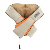 U Shape Electrical Back Neck Shoulder Massager Shiatsu Infrared Heating Kneading Massager for Car Home Use US Plug