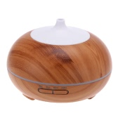 Anself 300ml Cool Mist Humidifier Digital Printed Wood Grain Ultrasonic Aroma Essential Oil Diffuser 7 Colors LED light Air Humidifier for Home Office Bedroom SPA Yoga