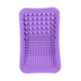 Anself Silicone Makeup Brush Cleaning Mat Cosmetic Brush Cleaner Pad Brush Washing Scrubber Washing Tool Purple