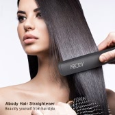 Abody Electric Hair Straightening Brush Comb Negative Ion Straightener Adjustable Temperature LED Digital Display EU Plug