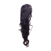 85cm Fashion Hair Cosplay Party Wig Women Wavy Curly Hair Full Wig Brown