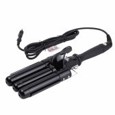 Professional Ceramic Triple Barrel Waver Curling Curler Wand EU Plug LCD Display 32mm