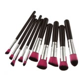 Professional 10pcs Makeup Brush Set Powder Foundation Brush Cosmetic Tools Rose Red Black