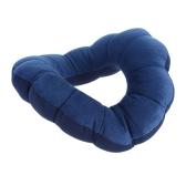 1Pc Neck Massage Plum Flower Pillow Amazing Versatile Comfort Pillow Cushion Bolster Distort Dark Blue