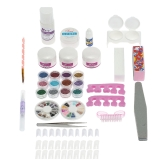 Professional Nail Art Manicure Decoration UV Gel Tool Brush Remover Nail Tips Glue Acrylic Kits DIY Set