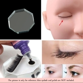 False Eyelash Extension Octagon Crystal Glass Holder Adhesive Lash Pallet Eye Lash Glue Tool