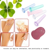 5pcs Health Care Anti Cellulite Vacuum Silicone Massage Cupping Cup  Cupping Glass Cupping Device Colors Random