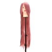 Pure Pink 1m  Long Staight Wig Anime Character Cosplay Stage Role Forehead Fringe