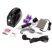 110V/220V 35,000RPM Portable Salon Nail File Drill Glazing Manicure Machine Accessory Pedicure Kit Set