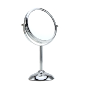6 Inch 10x Magnification Round Shape Circular Double Dual Side Rotating Makeup Cosmetic Vanity Desk Stand Mirror with Halfsphere Base for Women Girls Lady