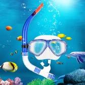 アダルト スキューバ ダイビング シュノーケ リング水泳セット ガラス ダイビング マスク ゴーグル + シュノーケルを半分乾燥