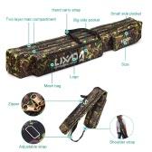 Lixada Fishing Bag Double Layer Large Capacity Fishing Rod Tackle Bag 120/150cm