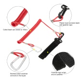 1pcs Coiled Paddle Leash Elastic Kayak Canoe Safety Rod Leash Kayak Accessory Stretches to 1.5M