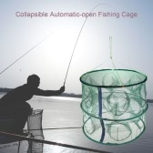 Portable Automatic-open Fishing Cage 12 Holes Collapsible Fishing Net Folding Shrimp Cage Fishing Tackle