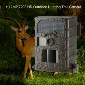 Outdoor Trail and Game Scouting Camera 12MP HD 720P 940nm IR Night Vision Hunting Camera Farm Security Cam Digital Surveillance Video Camera
