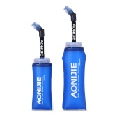 AONIJIE Sport Collapsible Lightweight Compact BPA Free Soft Running Water Bottle Soft Hiking Flask Hydration Bottle 350/600ml