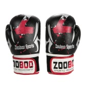 Zooboo PU Leather Sport Training Equipment Boxing Gloves Kick Boxing Training Fighting Gloves Mittens