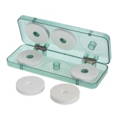 ​6pcs Portable Fishing Main Line Shaft Box Lines Spool Case Foam Spool Bobbins +  Storage Carrying Holder Fishing Tackle Case