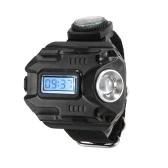 2-IN-1 LED時計懐中電灯Wristlight充電ランプ手首照明屋外トーチ