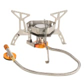 TOMSHOO Camping Gas Stove Portable Outdoor Cooking Folding Gas Stove Foldable Split Burner with Box