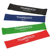 TOMSHOO Set of 4 Exercise Resistance Loop Bands Latex Gym Strength Training Loops Bands Workout Bands Physical Therapy Home Fitness Physical Therapy