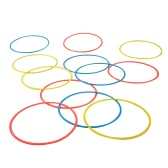12PCS Soccer Speed Agility Rings Sensitive Football Equipment Training Pace Lap Football Training
