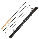 Lixada Portable 9 Feet 2.7M 4 Sections Detachable Carbon Fiber Fly Fishing Rod Pole Fishing Tackle