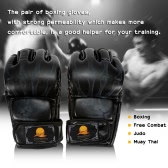 Half Finger Boxing Gloves Kung Fu Fighting Muay Thai Martial Arts Gloves