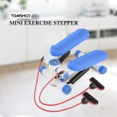 TOMSHOO Compact Mini Stepper Twisting Stair Stepper Trainer Exercise Stepper with Resistance Bands Home Fitness Machine