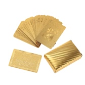 Certified Pure 24K Carat Gold Foil Plated Poker Playing Cards 52 Cards and 2 Jokers Table Games Gift