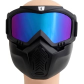 WOLFBIKE Unisex MTB Biking Cycling Glasses Goggles Skiing Glasses Windproof Glasses Mask Face Detachable Mask Motorcycle Glasses Snowboard Skate Eyeglasses Eyewear Mouth Filter