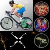 ​High Resolution Brightness 2500cd/m2 Intelligent Smart Bike Spoke Wheel Light Monitor RGB Display Rechargeable Bicycle Wheel Hub 256/416pcs Full Colored LEDs Light