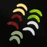 Lixada 100pcs 2cm Fishing Lures Set Maggot Grubs Worms Soft Lure Baits Fishing Accessories with Tackle Box