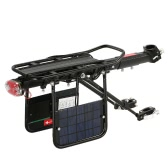 Solar Energy Bike Commuter Carrier Rack w/ Seatpost Quick Release Universal Rear Mount for Bicycle Cargo Phone / Loudspeaker / Bike Light Rechargeable