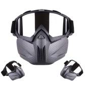 モーターサイクルヘルメット着脱式モジュラーフェイスマスク防風通気性シールドゴーグル屋外