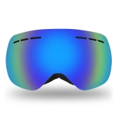 Lixada Frameless Ski Goggles Winter Snow Sports Snowboard Goggles Ventilated Anti-fog UV Protection Spherical Dual Lens for Snowmobile Skiing Skating