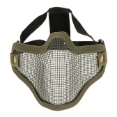 Lower Half Face Mask Metal Steel Net Mesh Tactical Hunting Military Airsoft Protective Mask