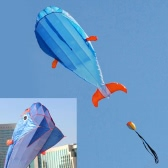 3D Dolphin Kite Huge Frameless Soft Parafoil Kite with Handle Line Outdoor Sports