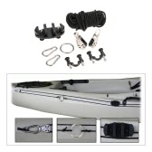 High Quality Kayak Anchor Trolley Cleat Kit Set With Well Nuts Stainless Steel Screws Rivets