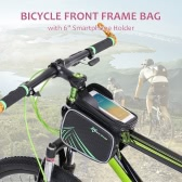 "ROCKBROS Rainproof Bike Bicycle Frame Front Tube Bag Double Pouch Cycling Bag Case Phone  Holder for IPhone 6s/ 6s Plus for Samsung with 6"" and Below Touch Screen"